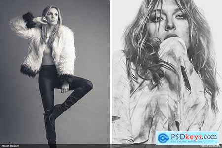 Monochromatic Vol2 - 20 Photoshop Presets