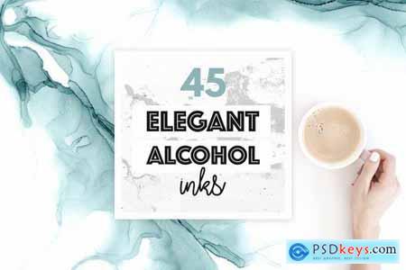 Elegant Alcohol Ink Textures