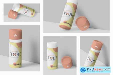 Paper Tube Packaging Mockup Set - Slim