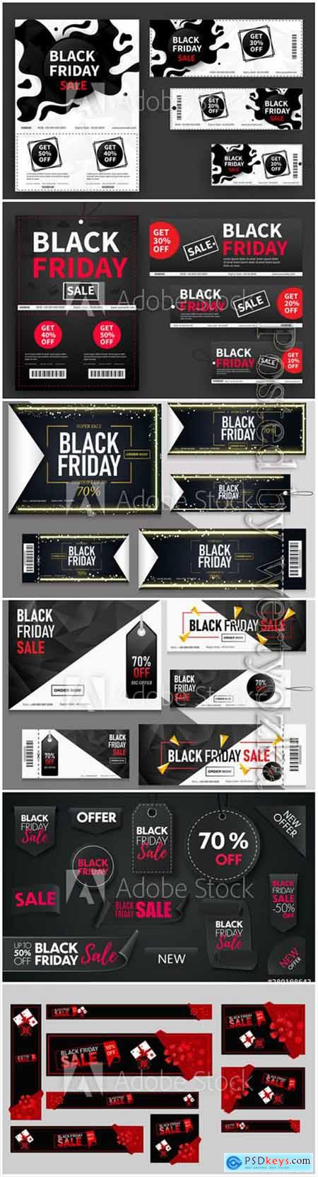 Black Friday sale coupons or tags collection