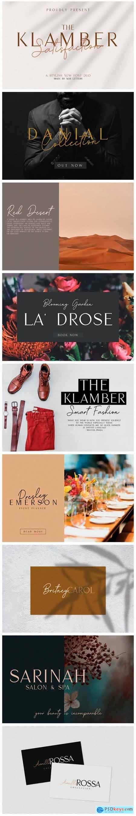 Klamber Satisfaction Font