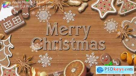 Videohive Christmas Cookies Promo Apple Motion 25132683