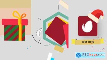 Videohive Christmas Minimal Logo 25132125