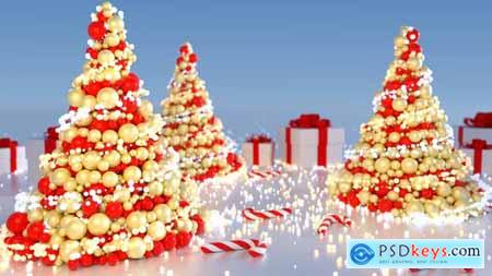 Videohive Abstract Christmas Tree (5 versions) 21023603