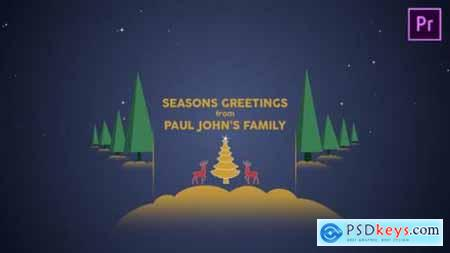 Videohive Parallax Christmas Greetings Premiere Pro 25157782
