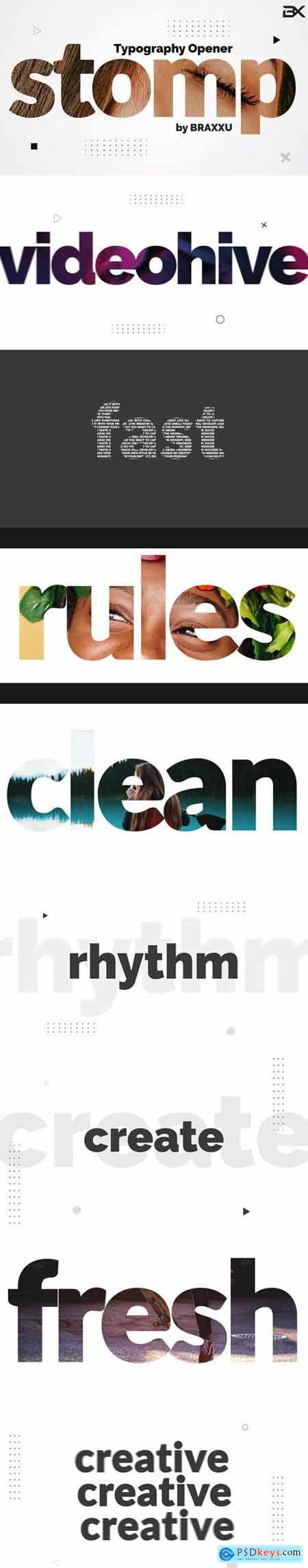 Videohive Typography Stomp Opener 23777352