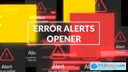 Videohive Error Messages Glitch Opener 25037052