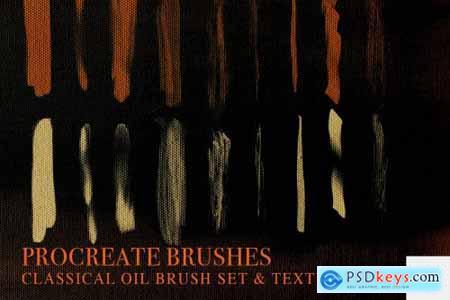 Procreate Oil Brush Set + Texture 3732089