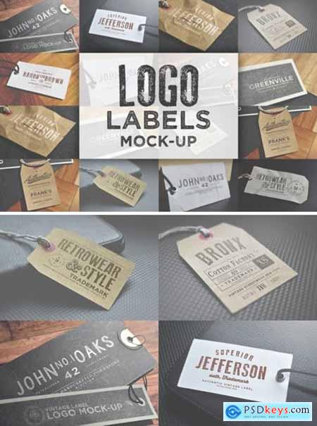 Logo Labels Mock-ups 2118871