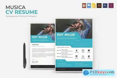 Musica CV & Resume Template