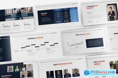 Minnen Corporate Powerpoint Google Slides and Keynote Templates