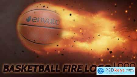 Videohive Basketball Fire Logo 19568935