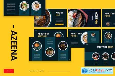 Azeena Asian Food Powerpoint Google Slides And Keynote