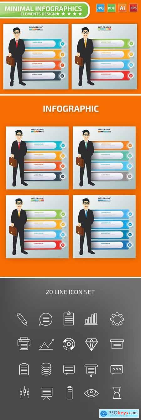 Businessman Infographic Elements
