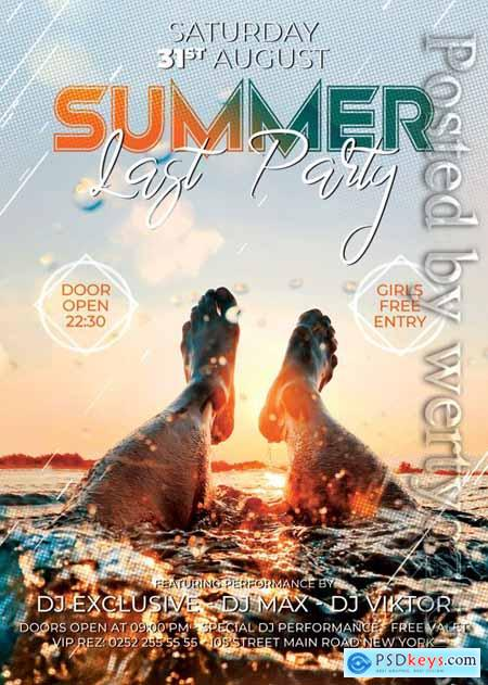 Last summer party - Premium flyer psd template