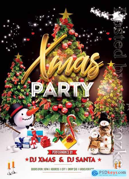 XMas Party Night - Premium flyer psd template
