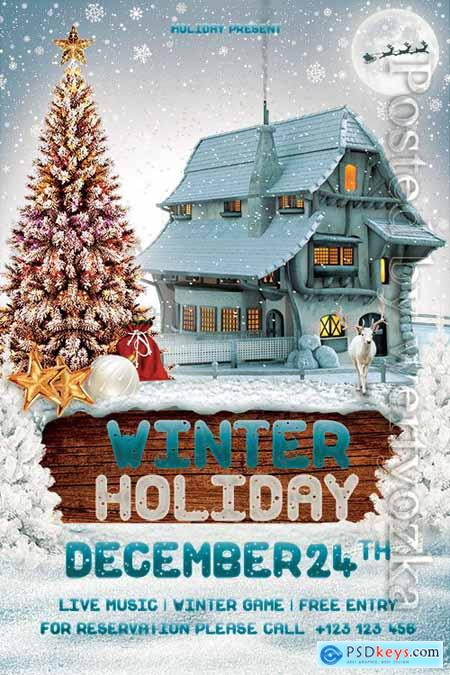 Winter Holiday - Premium flyer psd template