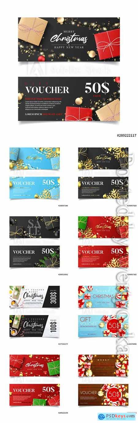 Gift voucher for New Year and Christmas sale