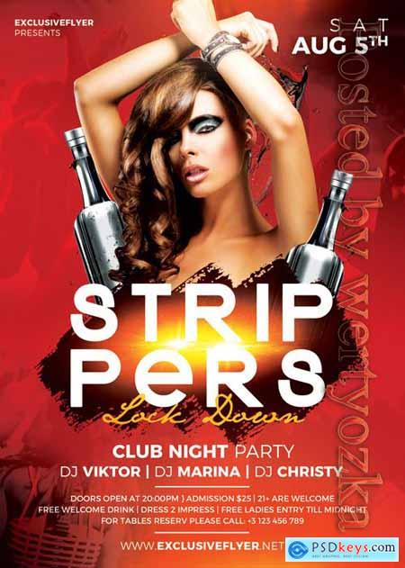 Strippers lock down - Premium flyer psd template