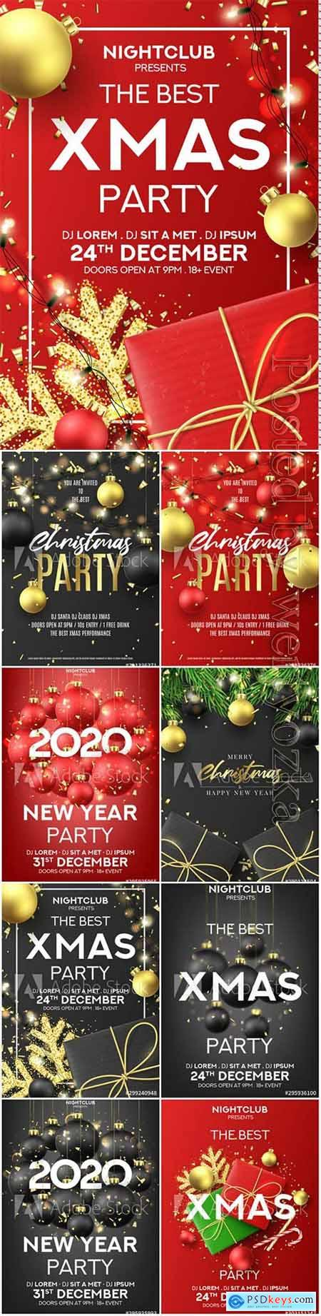Happy New Year party poster, holiday vector