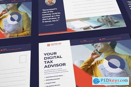 Income Tax Postcard PSD Template