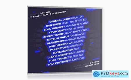 Modern DJ Mix Album CD Cover Artwork Template710