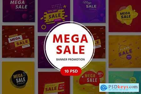 Mega Sale Promotion Banners