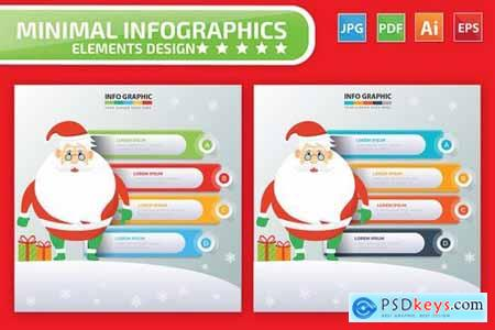 Santa Claus Infographics Design