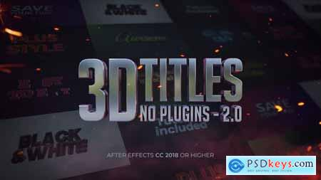 Videohive 3D Titles - No Plugins 2.0 25139764