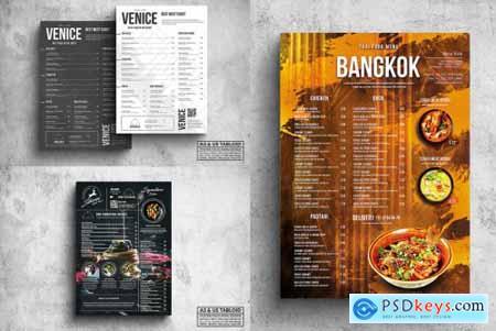 Poster Food Menu A3 & US Tabloid Bundle734