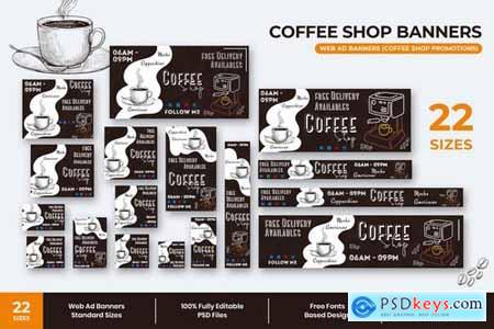 Coffee Shop Web Ad Banners