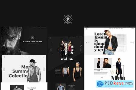 Platinum - Stylish ecommerce Sketch Template