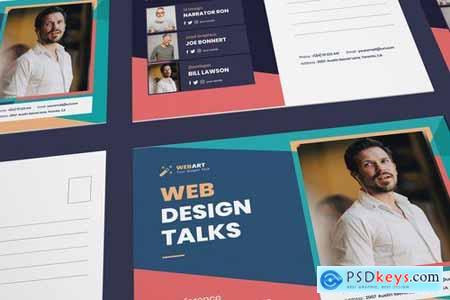 Conference Post Card PSD Template