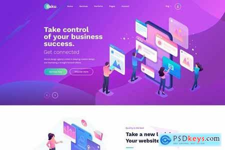 Saku - Agency And Business PSD Template