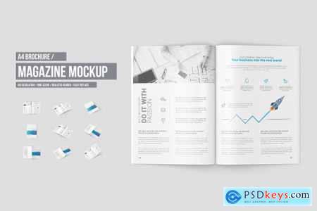 A4 Magazine - Brochure Mock-Up