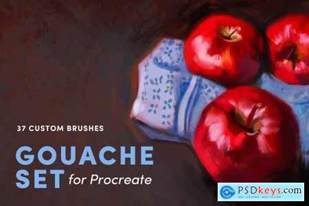 Gouache Set – Procreate Brushes 3948209