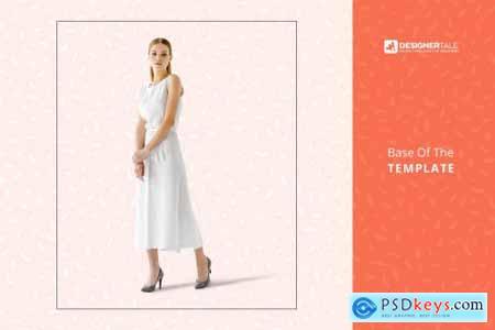 Women Sleeveless Summer Dress Mockup 4102872