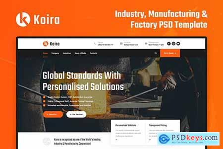 Koira - Factory and Manufacturing PSD Template