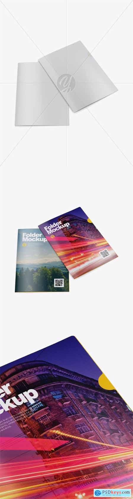 Two Folders Mockup - High-Angle Shot 28595