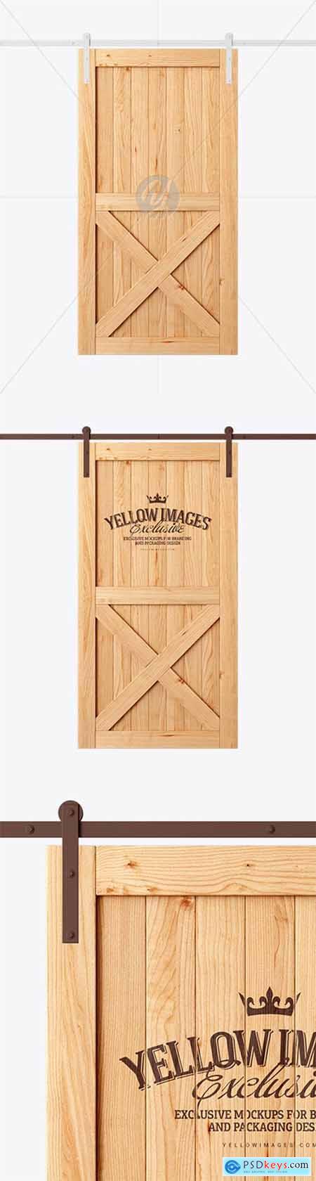 Vintage Wooden Barn Door Mockup 28613