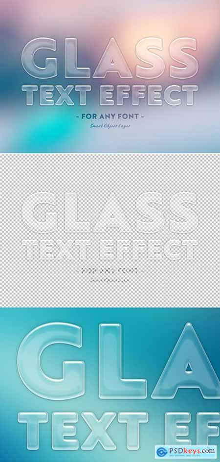 Transparent Glass Text Effect 302281997