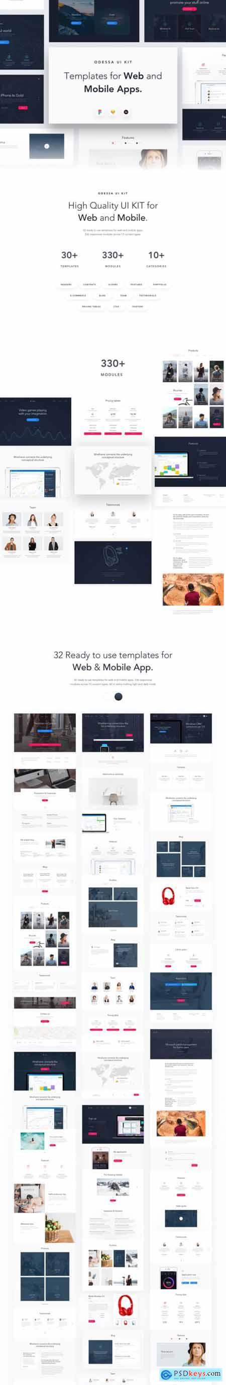 Odessa - Web & Mobile UI Kit