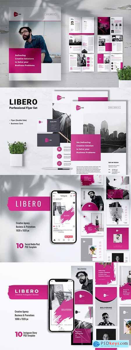 LIBERO Creative Agency Company Profile Brochures, Flyer, Instagram