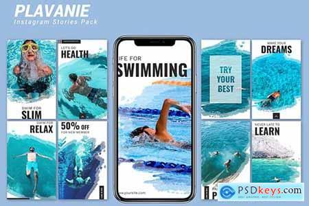 Plavanie - Instagram Story Pack