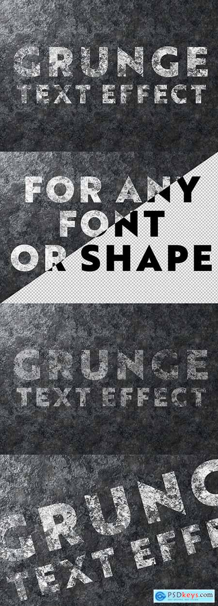 Grunge Text Effect on Metal Texture 302279836