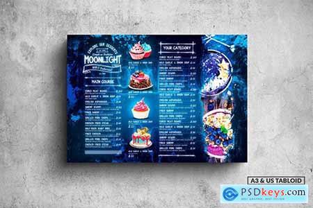 Moonlight Bakery Menu - A3 & US Tabloid Poster