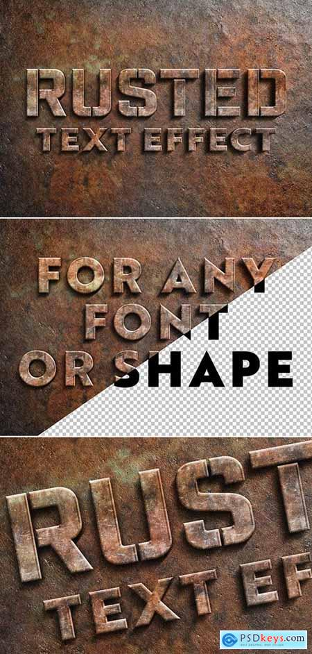 Rusted Metal Text Effect 305996140159