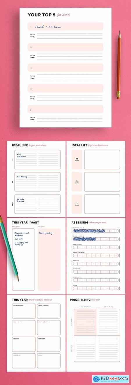 New Year Resolution Planner Layout 304175423