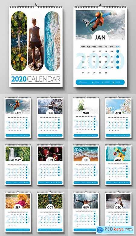 2020 Wall Calendar Layout 305533683