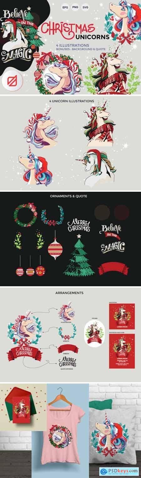 Christmas Unicorn Set 2131240